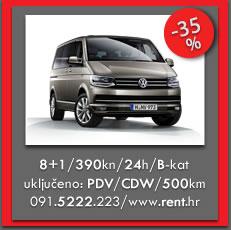 VW Caravelle / Najam putničkih kombija